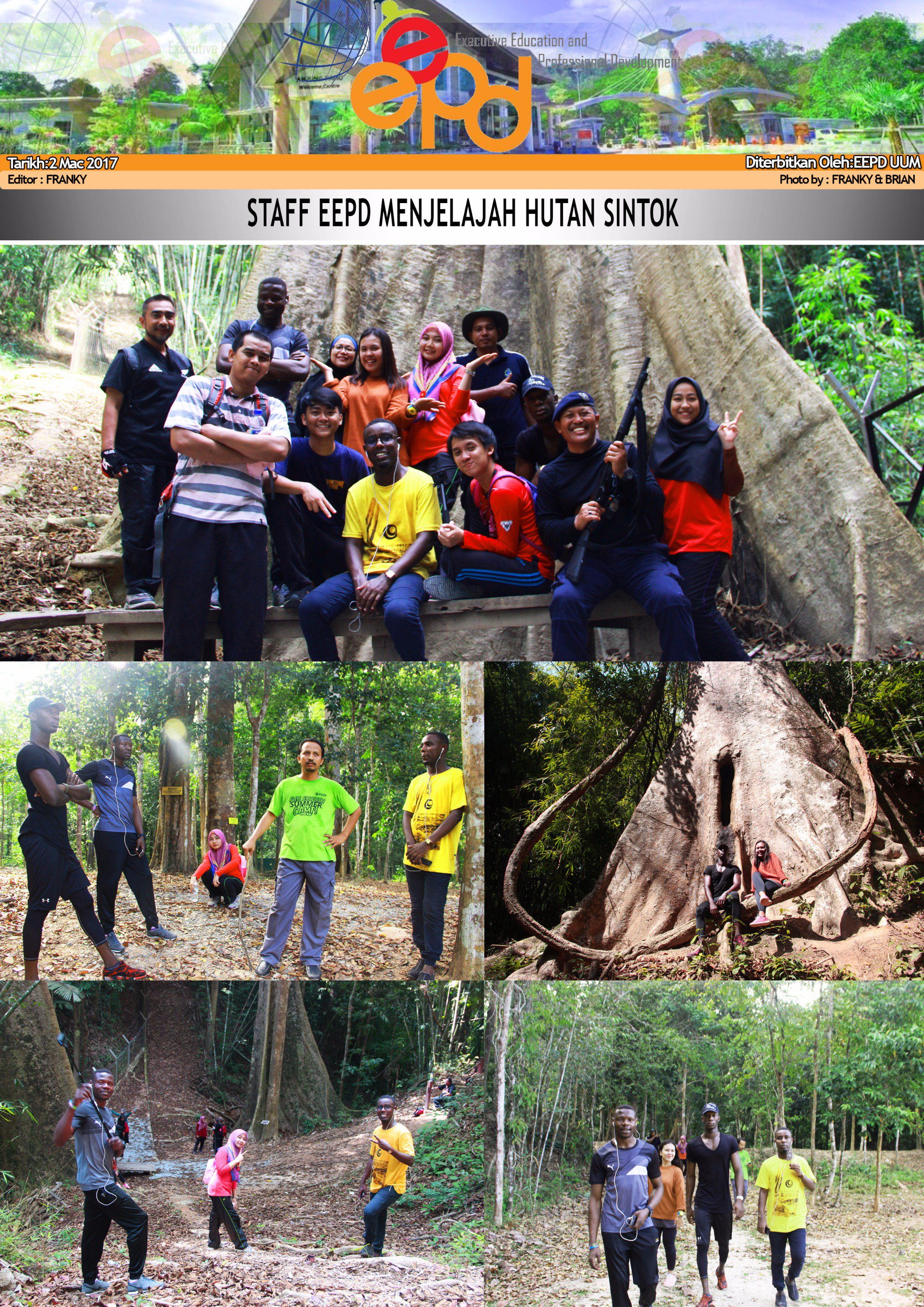 EEPD STAFF EXPLORE THE SINTOK FOREST